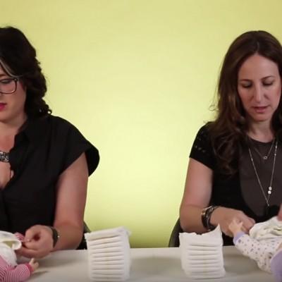 Натпревар помеѓу мајките и татковците: Кој може да смени повеќе пелени за 1 минута?