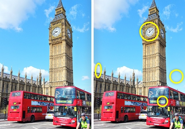 (12) Само гении можат да ги најдат разликите во овие фотографии