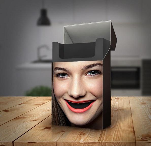 Креативна амбалажа што го покажува негативното влијание на цигарите врз вашите заби