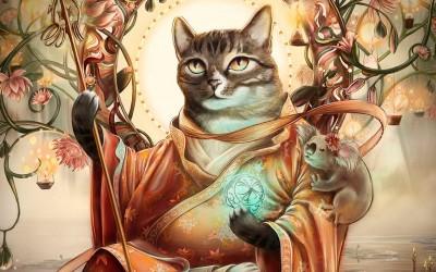 Креативни уметнички дела на кои мачките се прикажани како историски личности