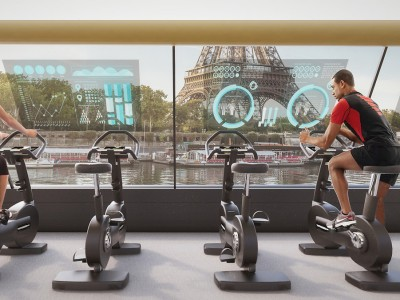 Сон на сите љубители на вежбањето: Сала за вежбање што плови по реката Сена во Париз