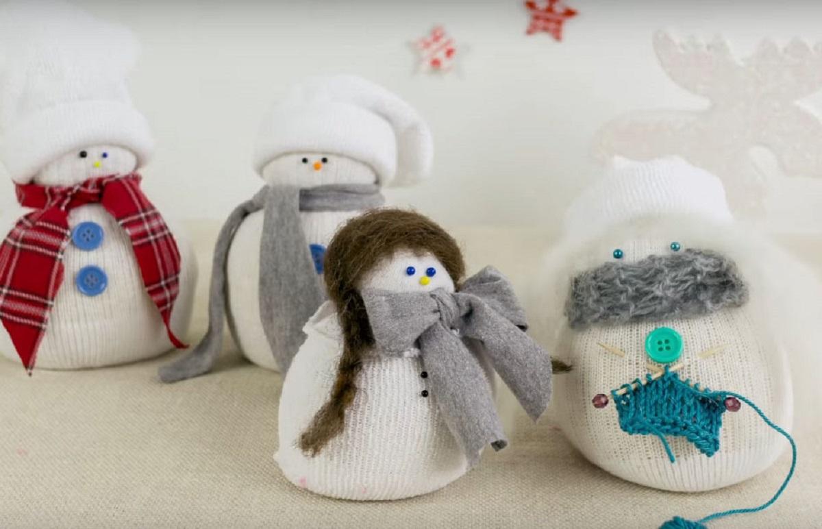 Направете сами снешковци од чорапи и ориз