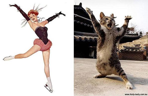 Неодоливи мачки во улога на пин-ап девојки!