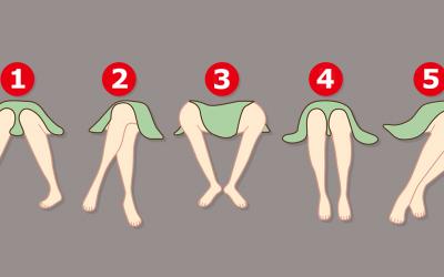 Откријте што кажува за вас положбата во која ви се поставени нозете додека седите