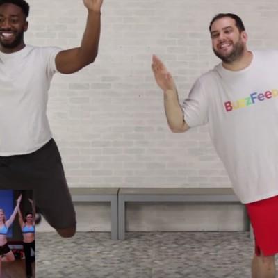 Погледнете како овие мажи за прв пат прават вежби за задник