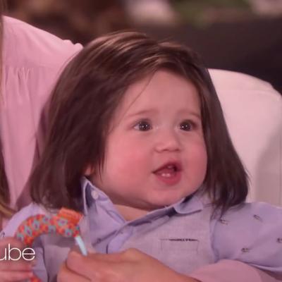7-годишното бебе Тео со неверојатна коса ѝ го стопи срцето на Елен
