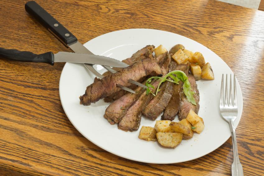 Sliced Steak Potatoes