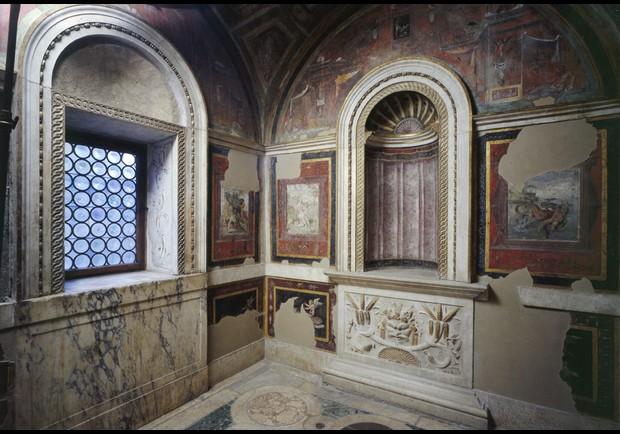 Stufetta del Cardinale Bibbiena (Bathroom of Cardinal Bibbiena).