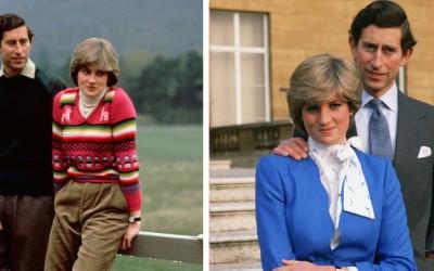 Дали забележувате нешто чудно кај фотографиите на Чарлс и Дијана?