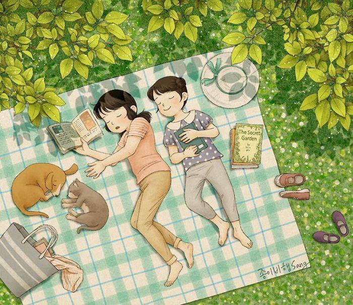 1-prichini-zoshto-tokmu-taa-e-vasheto-najgolemo-bogatstvo-korejska-umetnichka-gi-ilustrira-spomenite-od-izrasnuvanjeto-zaedno-so-sestra-www.kafepauza.mk_