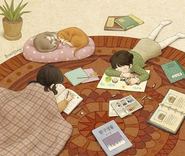 6-prichini-zoshto-tokmu-taa-e-vasheto-najgolemo-bogatstvo-korejska-umetnichka-gi-ilustrira-spomenite-od-izrasnuvanjeto-zaedno-so-sestra-www.kafepauza.mk_