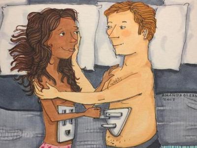 Илустрации кои покажуваат што прават љубовните парови кога никој не ги гледа