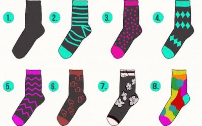 Тест на личноста: Одберете го чорапот што најмногу ви се допаѓа и дознајте нешто повеќе за себе