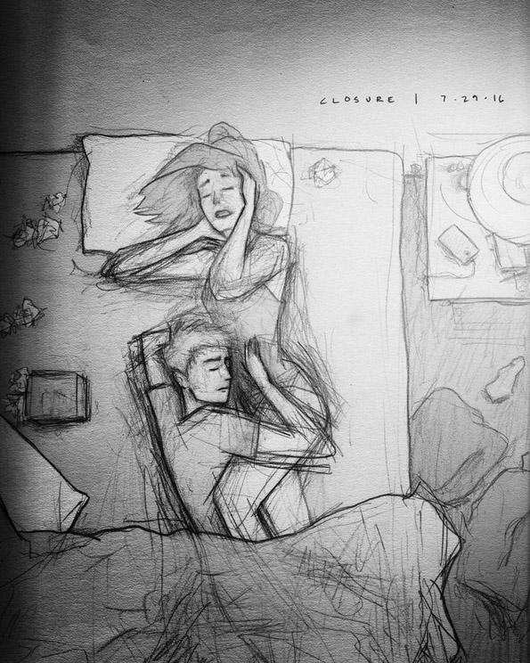 Цртежите на овој сопруг од неговото семејство се полни со љубов и искрена емоција