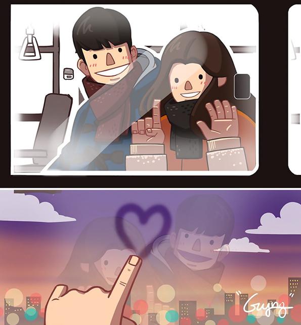 Слатки илустрации во кои ќе се пронајдат сите блиски и приврзани љубовни парови