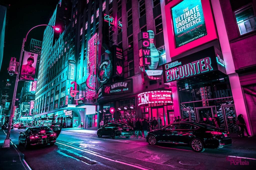 Неверојатни фотографии од ноќните неонски светла на Њујорк