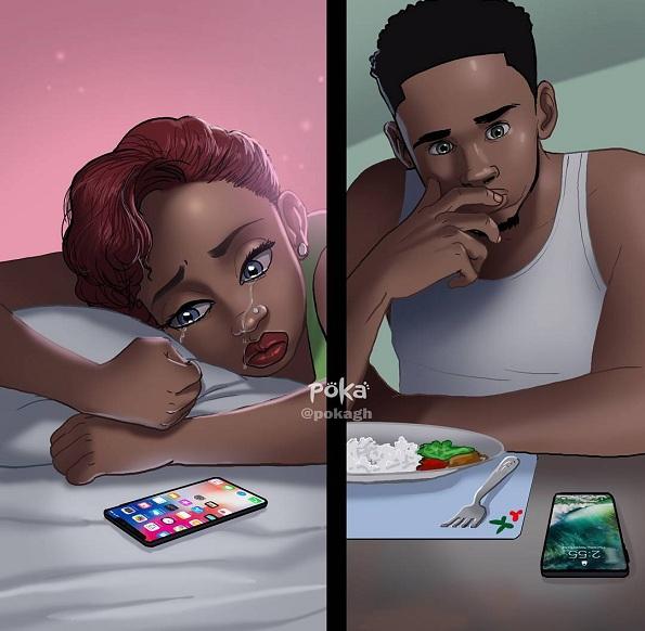 Илустратор од Гана создава илустрации што сите парови ќе ги разберат