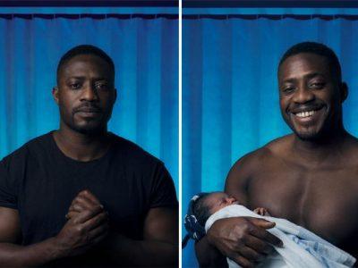 Емотивни фотографии од мажи пред и откако станале татковци