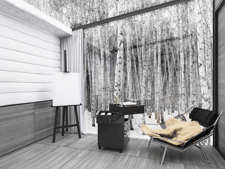 Еколошка стаклена куќа што се камуфлира во своето опкружување