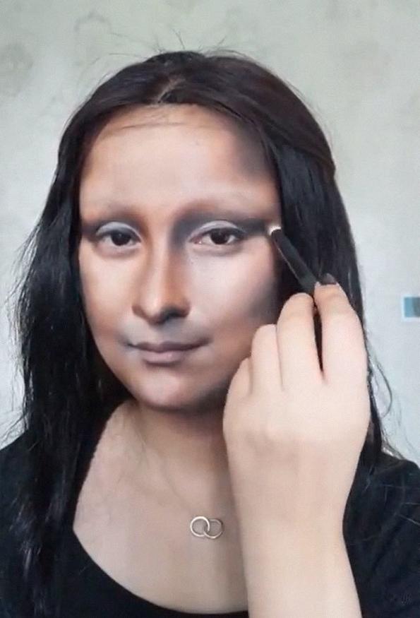 Погледнете како оваа неверојатна мејкап артистка се трансформира во Мона Лиза
