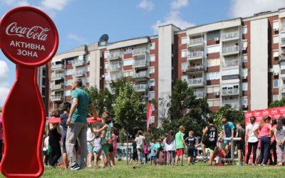 Отворена единаесеттата Coca-Cola Активна зона: Граѓаните на општина Чаир добија ново место за дружење, спорт и рекреација