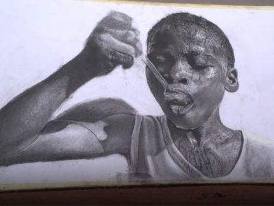 11-годишно момче од Нигерија создава неверојатни хиперреалистични цртежи
