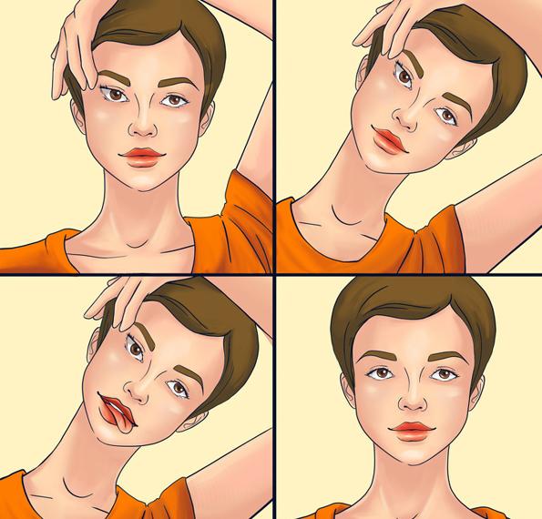 8 јога вежби за лице коишто успешно се борат против брчките