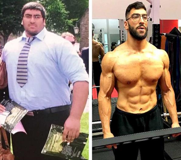 Пред 3 години ја скршил кадата со неговата прекумерна тежина, а денес е секси мускулест мачо