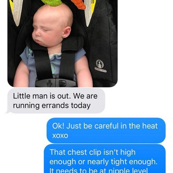 """Мајка објаснува како """"досадната"""" текст-порака што му ја испратила на сопругот, му го спасила животот на нивното бебе во сообраќајна незгода"""