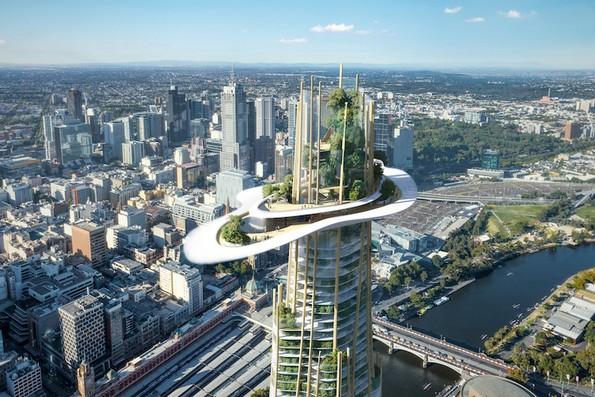 Неверојатни облакодери што се издигаат како планина во градот
