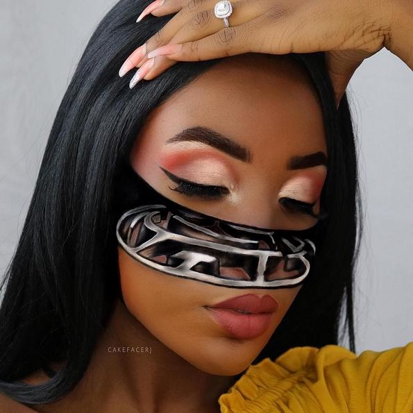 Самоука мејкап артистка го трансформира нејзиното лице во извонредни оптички илузии