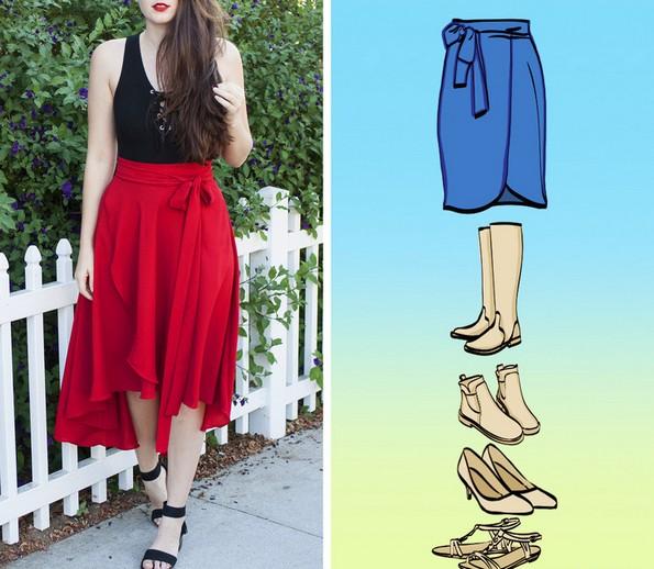 Со какви чевли да ги комбинирате разните видови здолништа?