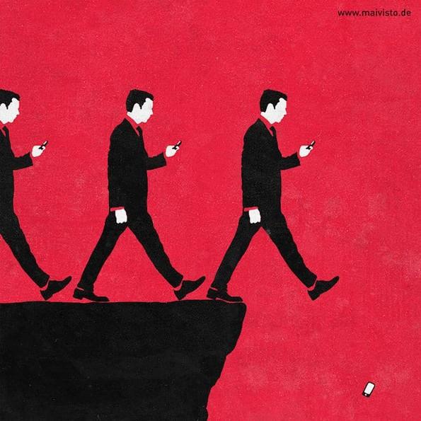 Минималистички илустрации кои отсликуваат теми од модерниот живот