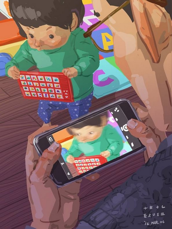 Самохран татко од Тајван го илустрира неговиот секојдневен живот