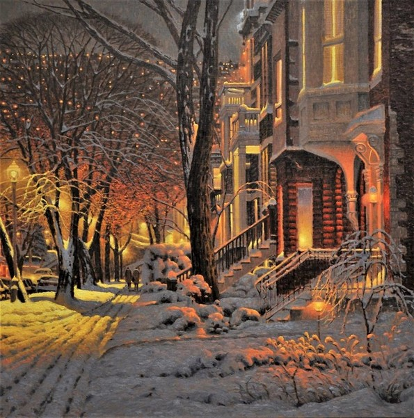 Уметник од канада создава слики со топла зимска атмосфера