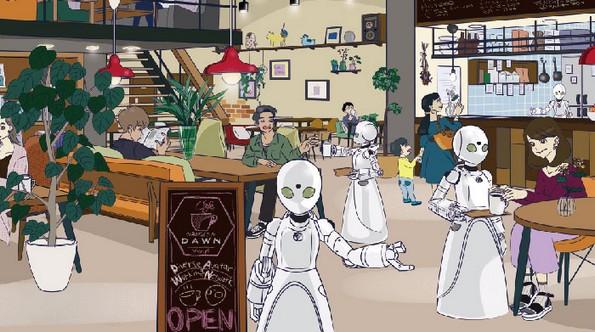 Јапонска кафетерија вработува парализирани луѓе како келнери