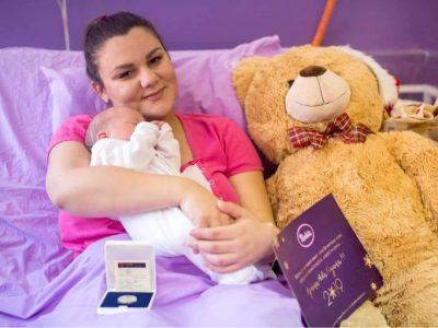 Годишна залиха на пелени за бебињата родени во новогодишната ноќ