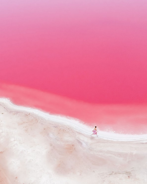 Магични фотографии од розовата лагуна во западна Австралија