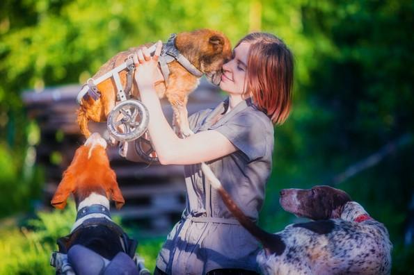 Фотографка од Москва живее во шума со 100 кучиња