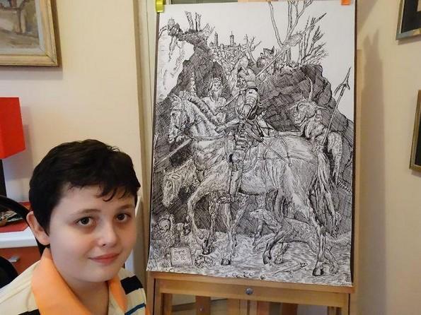 Чудо од дете од Србија го восхитува светот со неговите цртежи