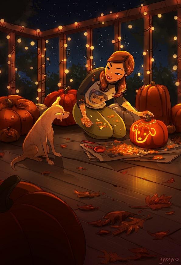 Слатки илустрации што прикажуваат како изгледа животот со куче