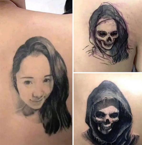 Прекриени тетоважи од бивши партнери