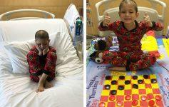 Татко ги претвора детските болнички постелнини во друштвени игри