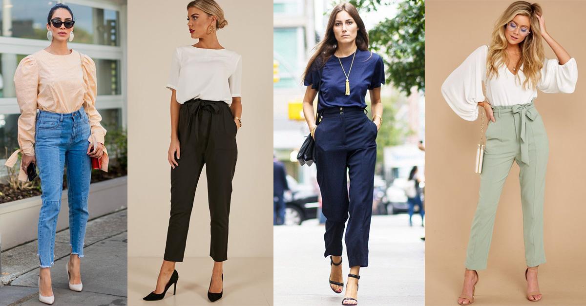 Како да носите панталони со висок струк ако имате кратко торзо?