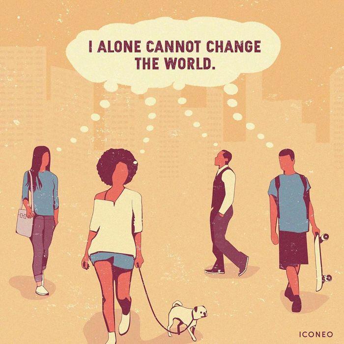 Проблемите на денешницата инспиративно претставени во илустрациите на Стефен Крафт