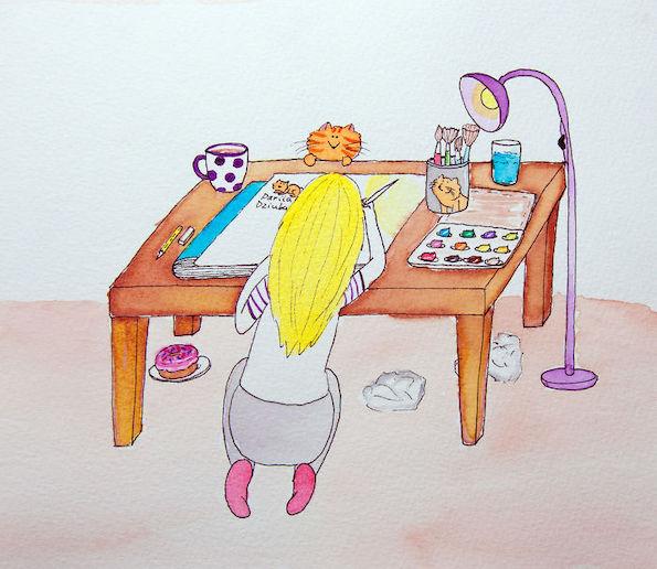 Илустрации кои ги прикажуваат предностите на животот со мачка