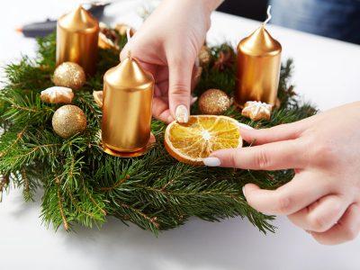 Направете сами преубав божиќен венец