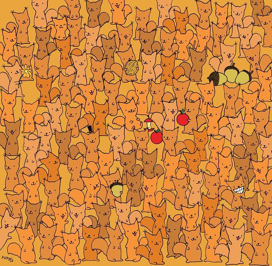 За оние со око соколово: Можете ли да го најдете глувчето меѓу сите овие верверички