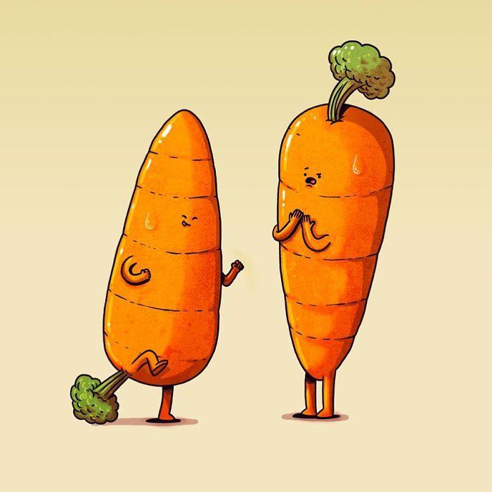 Што би правеле овошјето и зеленчукот ако беа живи?