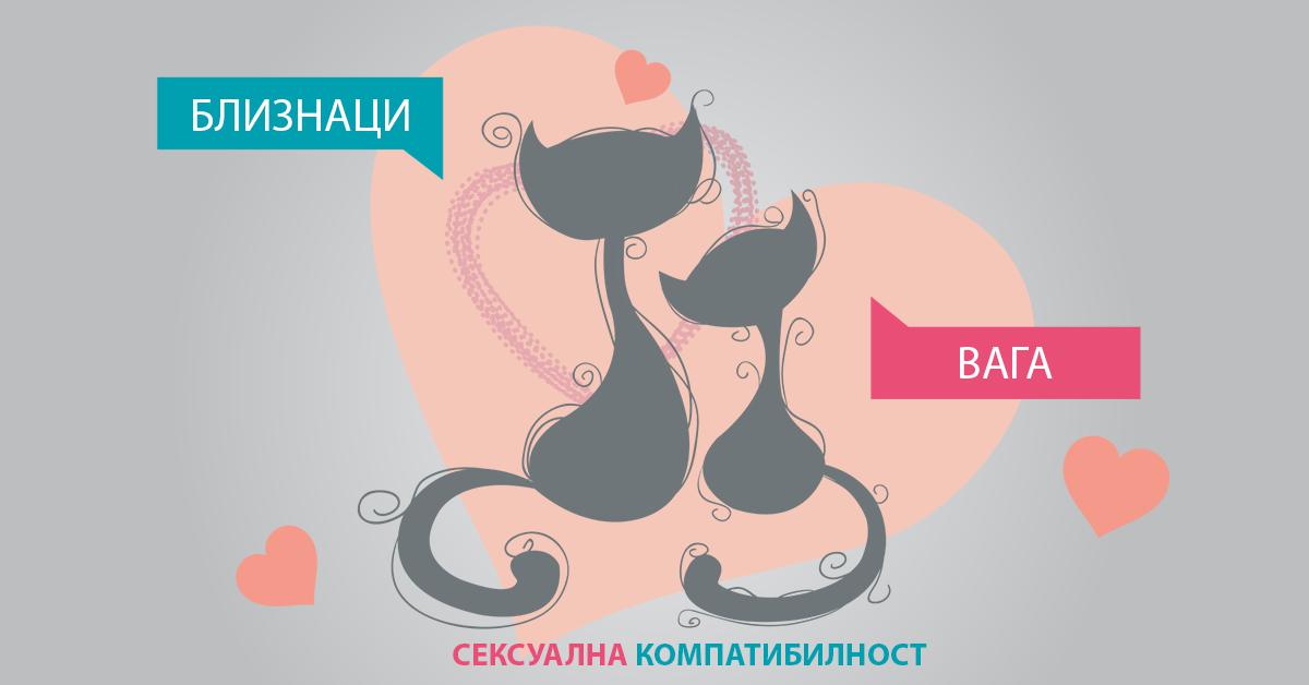 Сексуална астролошка компатибилност: Близнаци и Вага